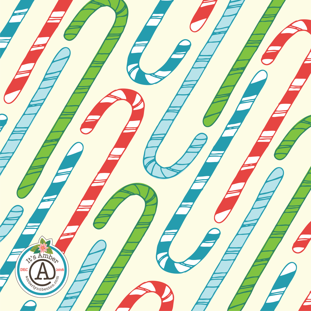 Candy Cane Pattern by Amber Lynn Benton for #ItsAdvent2016