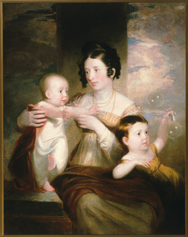 Mrs. Morse and Two Children by Samuel Morse