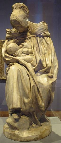 Woman of Boulogne Nursing Her Child by Jules Dalou