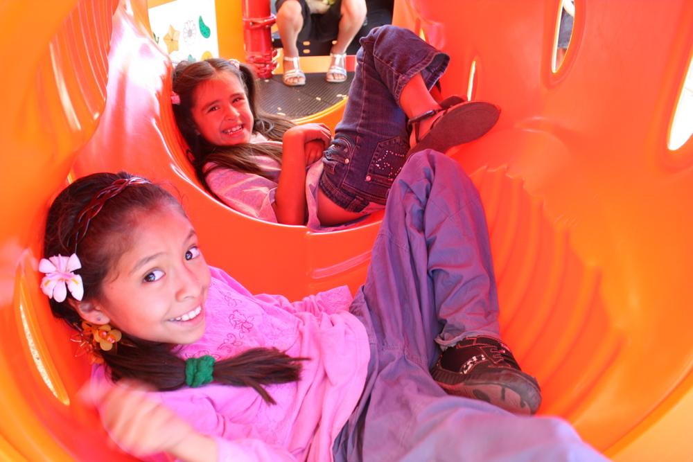 girls in slide.JPG