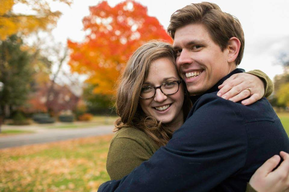 Two years ago we even did our engagement photos on Summit Avenue in the fall, we love it so much! Photo by Kelsey Sagen Photography