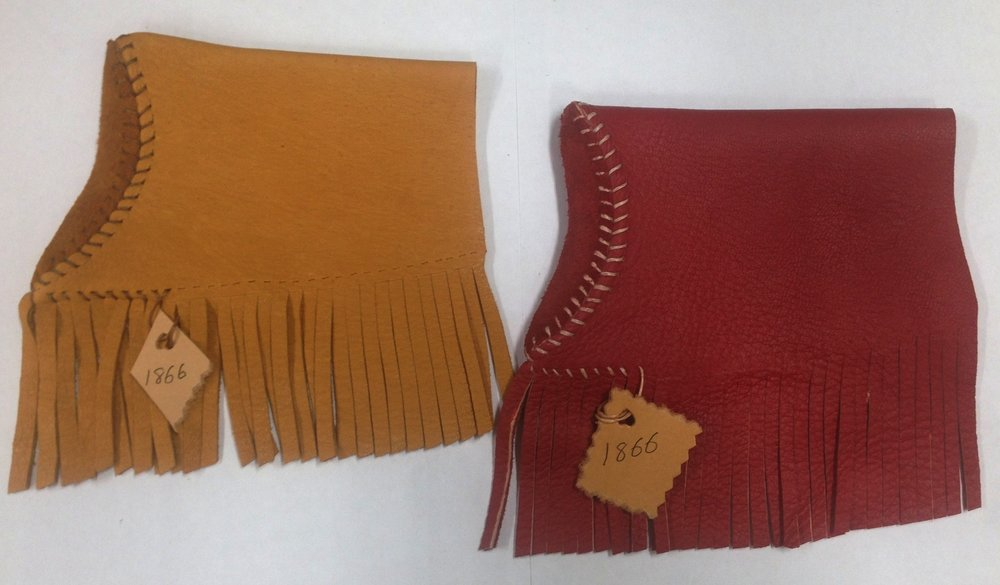 Shown here are the limited light tan and red 1866 fringe covers.