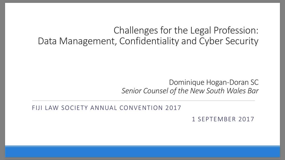 Fiji Law Society Convention