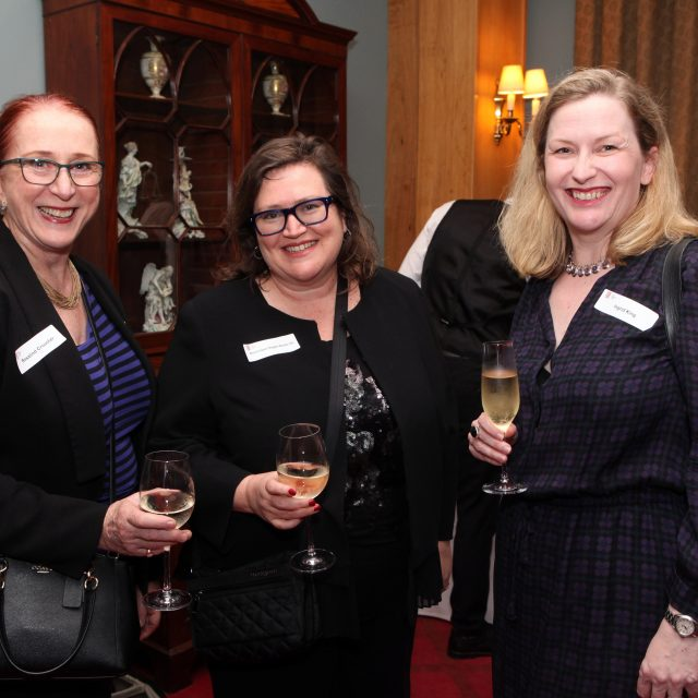 Australian Law Reform Commission President, Rosalind Croucher, Dominique Hogan-Doran SC and barrister Ingrid King, at the launch of the First 100 Years Project on 15 November 2017.