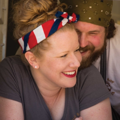 Hannah and Jonny in the Cookie Truck at the Tattnall County Sweet Onion Festival, 2016. article written by Eric S. Love, originally published in Tattnall County Magazine, 2016.