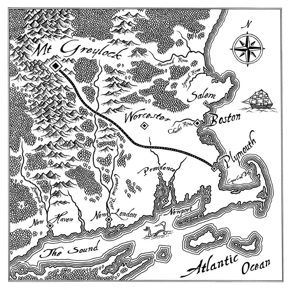 The Origins of Ilvermorny, Map