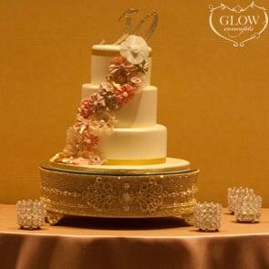 Gold Rhinestone Cake Stand