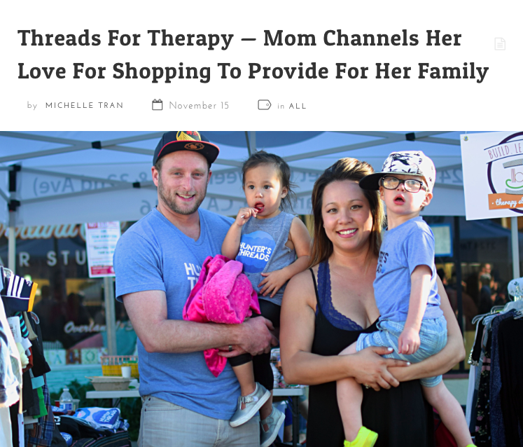 XPRESS MAGAZINE - Threads for Therapy -- Mom Channels Her Love For Shopping to Provide For Her Family