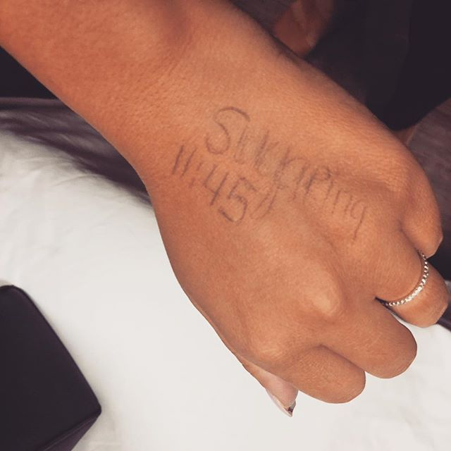 Don't forget your sugaring appointment! Even if you have to write it on your hands ;) #clientoftheday #socute #1145