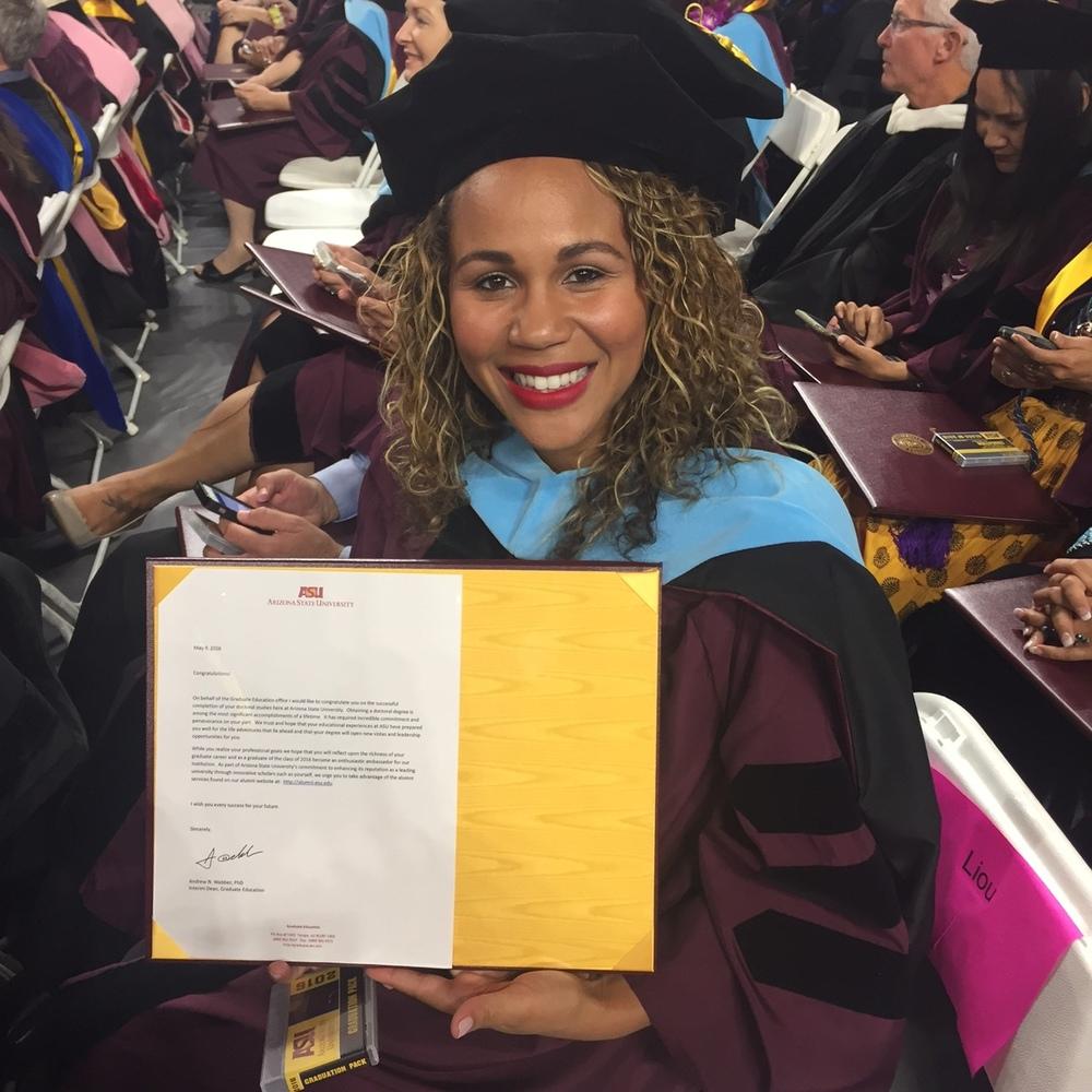 The author at her EdD graduation ceremony