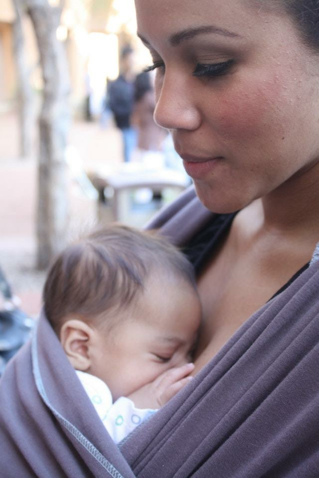The author with her first son, Jace