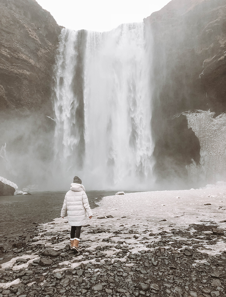 Skogafoss Waterfall - there's a viewing deck atop that requires quite a climb via stairs that I could've done without.
