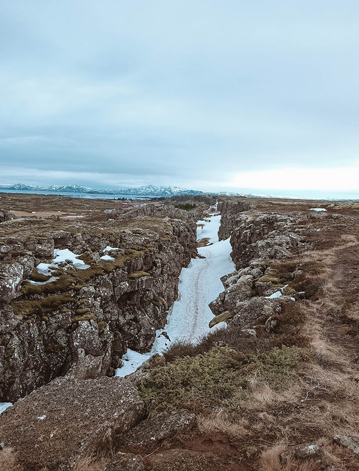 Tectonic Rift at Þingvellir (Thingvellir) National Park