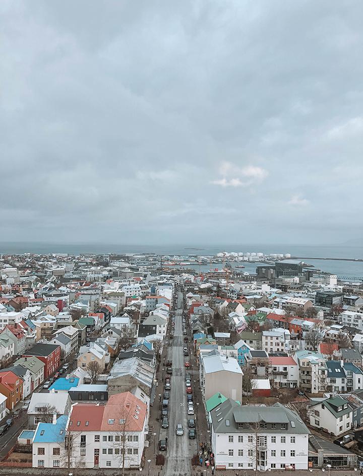 View of downtown Reykjavik from Hallgrímskirkja