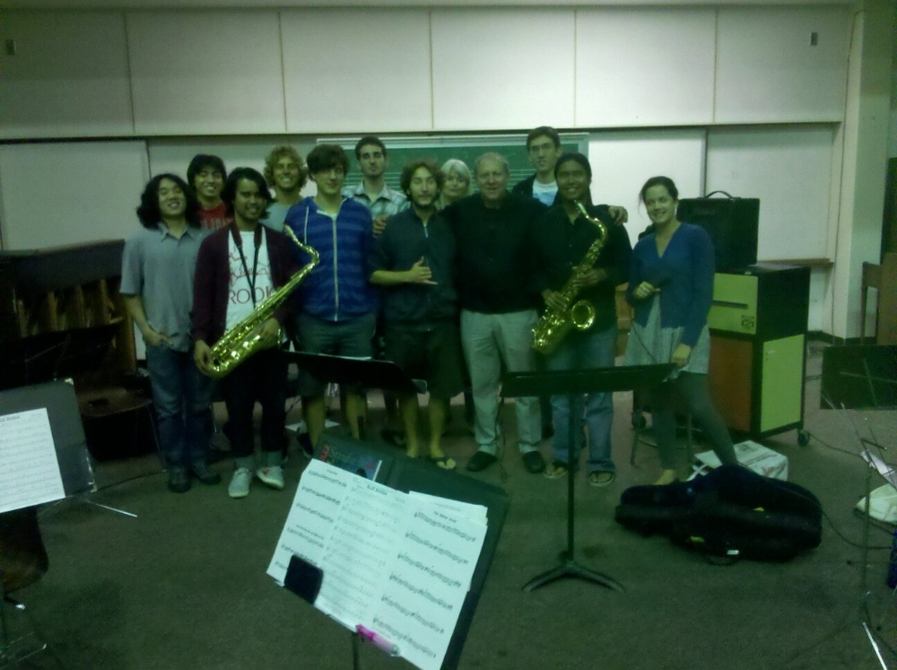 Pete Yellin workshop with University of Hawaii Jazz Ensemble