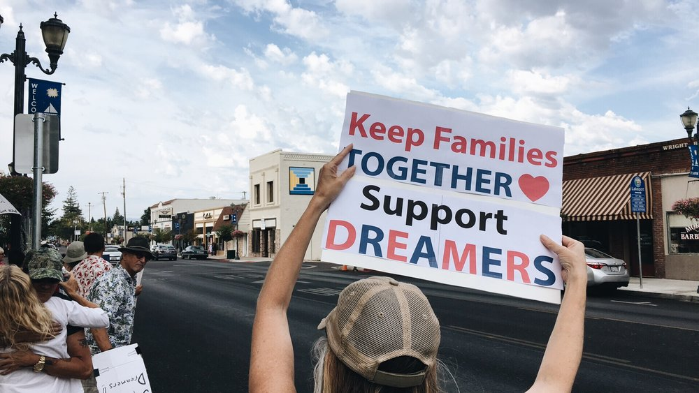 DACA rally in Lakeport, CA on Sept. 2017