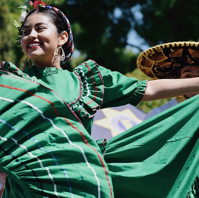 Baile folklórico performances are always quite the sight. Taken in Library Park in Lakeport for the 23rd Cinco de Mayo celebrations.