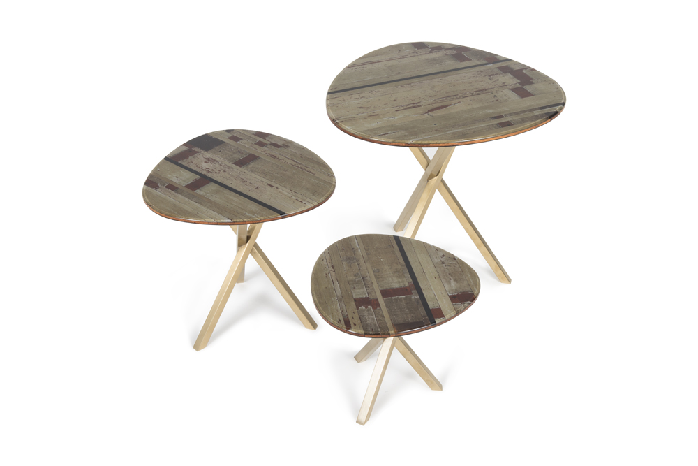 Set of three Nest Tables STRIPES