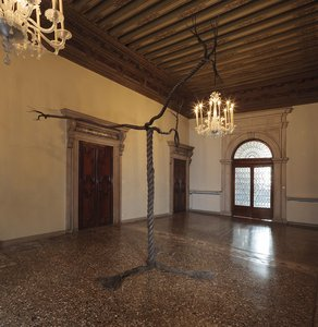 Graham Fagen, 'Rope Tree', Installation View,     Palazzo Fontana, Bronze, 2015