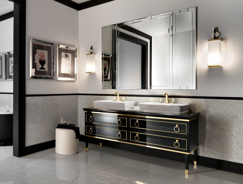 furniture-bathroom-gold-and-black-bathroom-vanity-with-round-drawers-handle-with-double-rectangular-white-sink-and-frameless-wall-mirror-among-antique-cube-wall-lights-as-well-as-bathroom-furniture-v.jpg