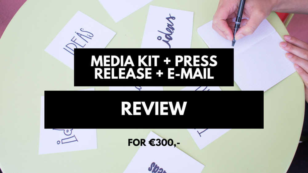 Get your media kit + press release + email draft reviewed before you send it out to your ever growing press list! You'll receive a written review and of course, you can ask me a few additional questions regarding my advice via e-mail!  This will help you:  -Figure out if you're doing it right - so that journalists will pick your story up.  - Have some experience with sending out press releases and media kits, but you're not completely sure you're doing it the right way.  -You wanna know how I work, but you're not ready to commit to the full course. This review includes: -One PDF with feedback -3 follow up emails after the feedback -Discount for Oh My Press