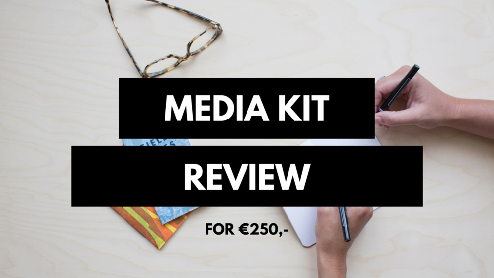 Get your media kit reviewed before you send it out to a company you want to pitch to! You'll receive a written review and of course, you can ask me a few additional questions regarding my advice via e-mail!  This will help you:  -Figure out if you're doing it right and if your media kit is clear to others. - You have a media kit, but you're not completely sure you're doing it the right way.  -You wanna know how I work, but you're not ready to commit to the full course. This review includes: -One PDF with feedback -3 follow up emails after the feedback -Discount for Oh My Press