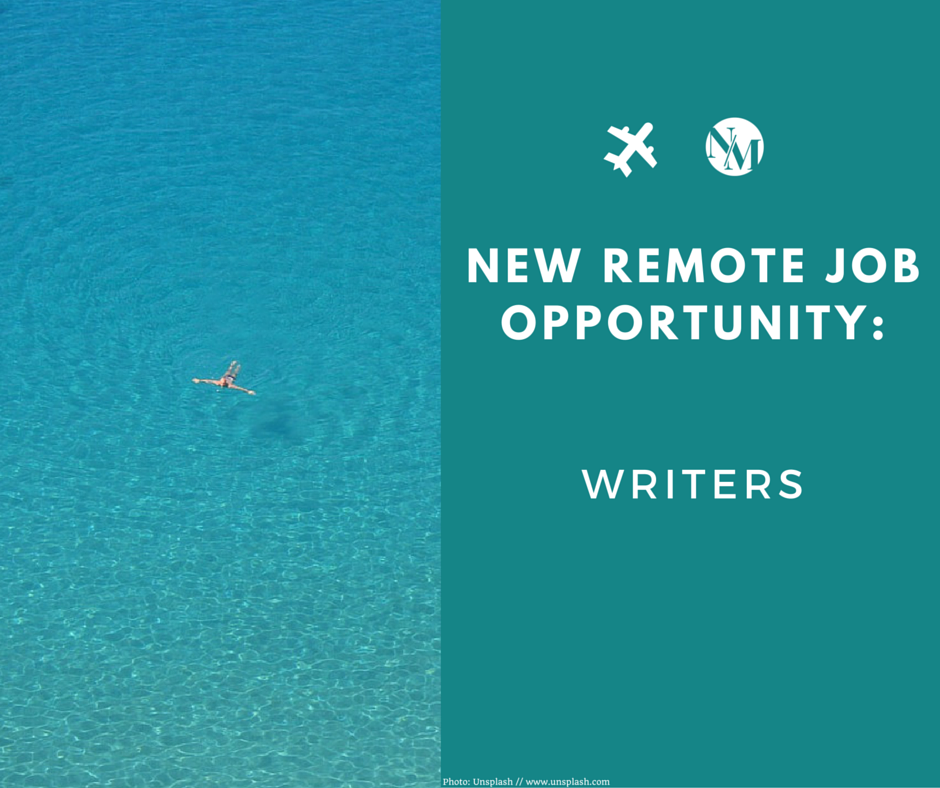 writing jobs for digital nomads and creative freelancers