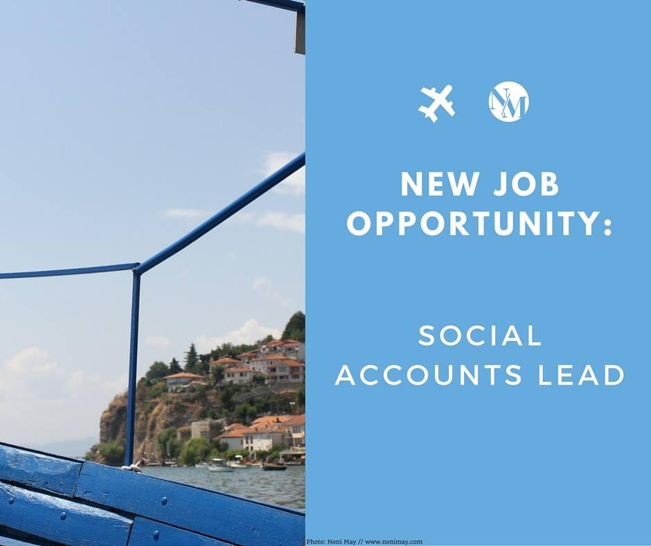 SOCIAL MEDIA MANAGER JOB OPPORTUNITY