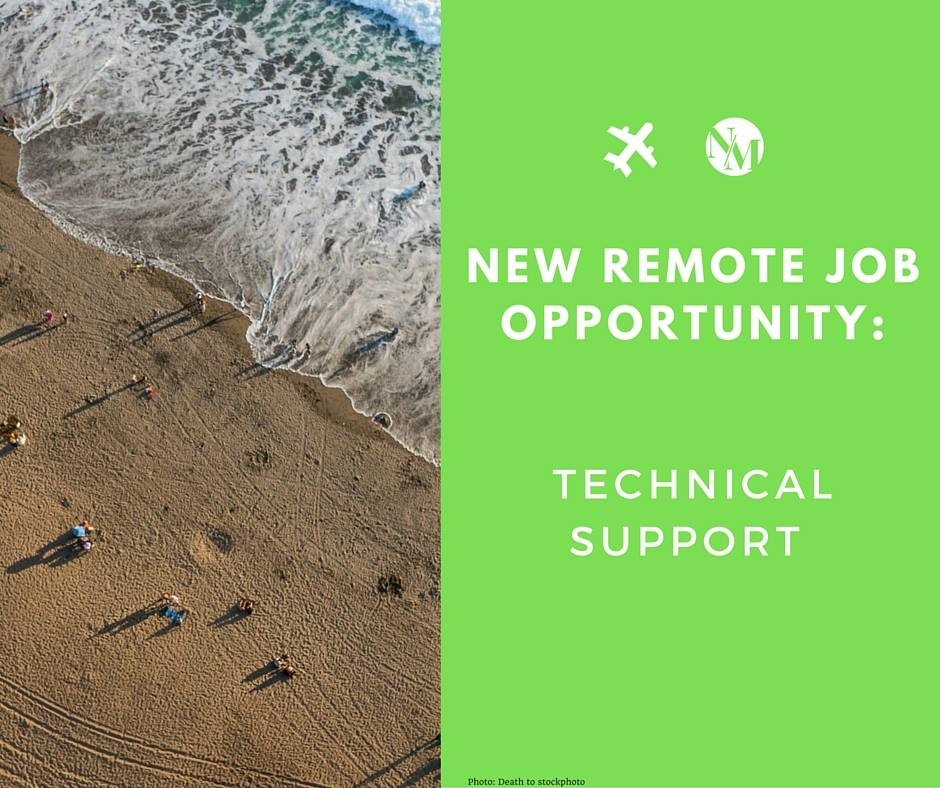 TECH SUPPORT JOB OPPORTUNITY
