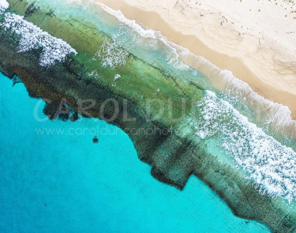 'Pristine II' (Aerial - Shelley Beach near Albany) UV Ink on maple wood block 355x280mm $85 plus postage