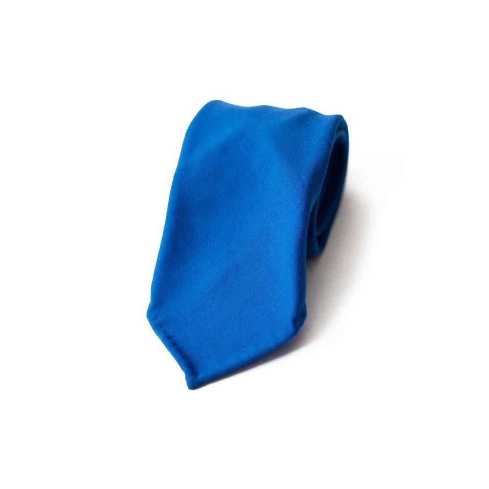 Italia Blue Seven-Fold Wool Tie Mess of Blues HE4CVr