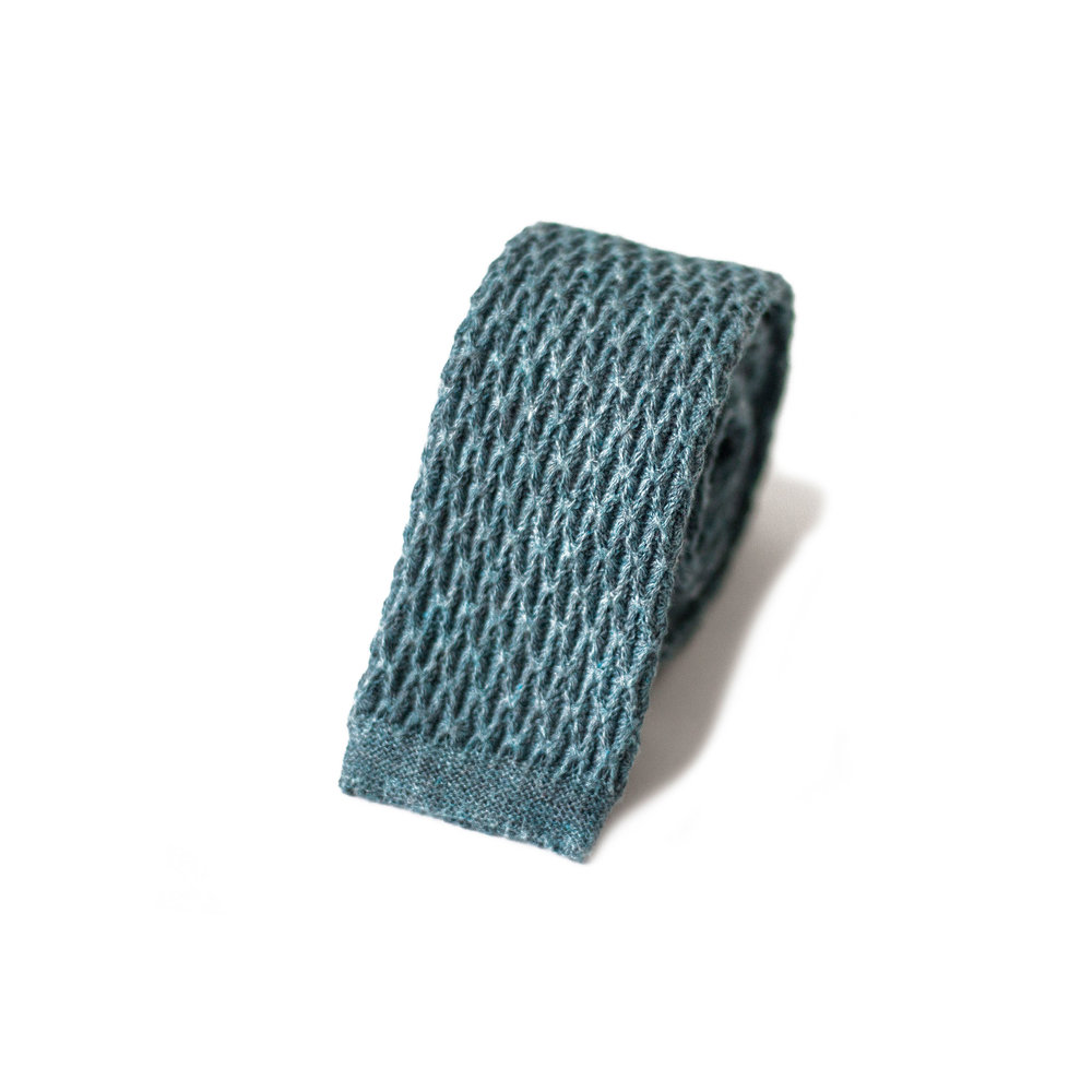 Cravate Désordre De Bleus De Coton Tricoté Bleu Aqua F0CzGwg