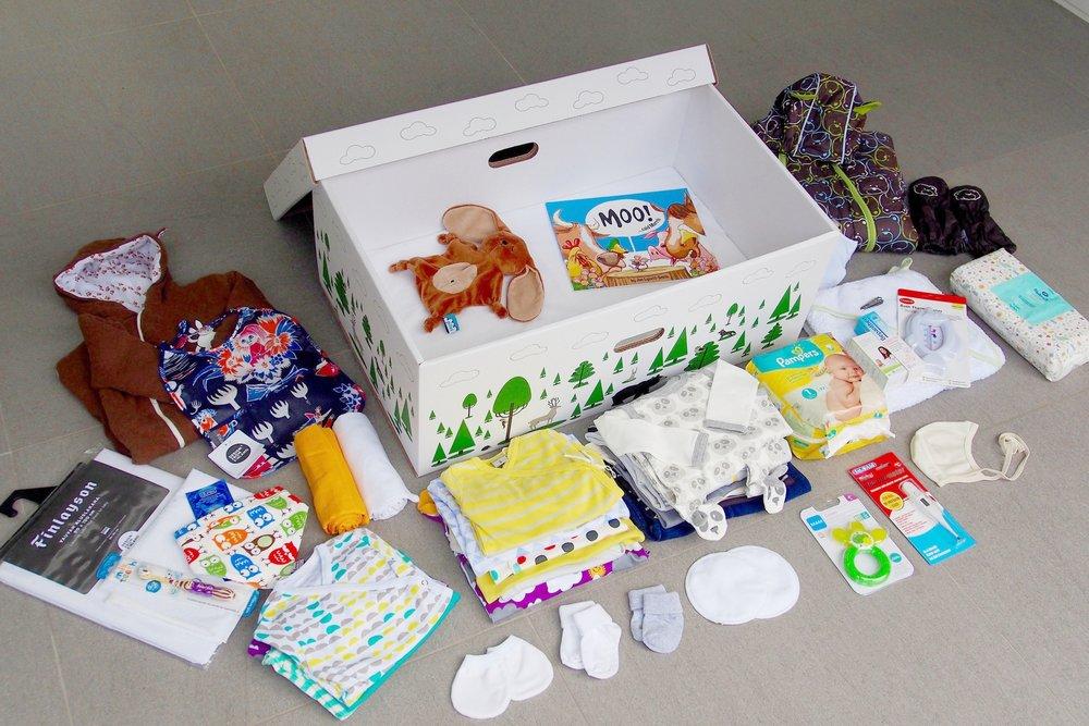 In Finland, newborns sleep in boxes