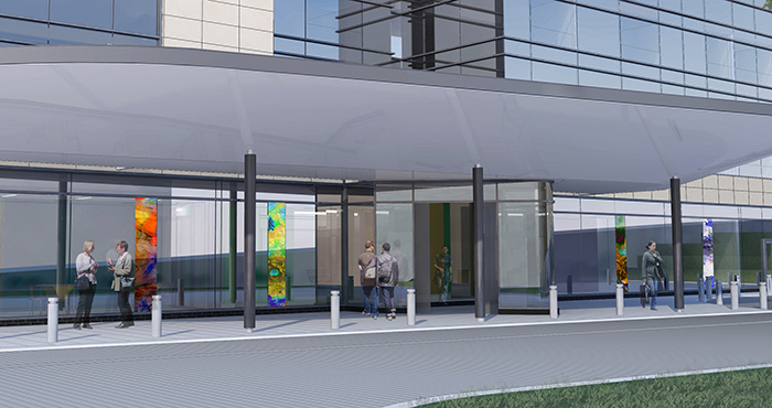Awarded commission for the front facade of the Royal Ulster Hospital, Belfast.