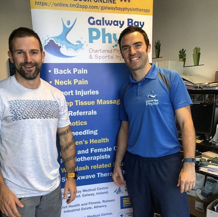 Emmet at Galway Bay Physio being kept busy.