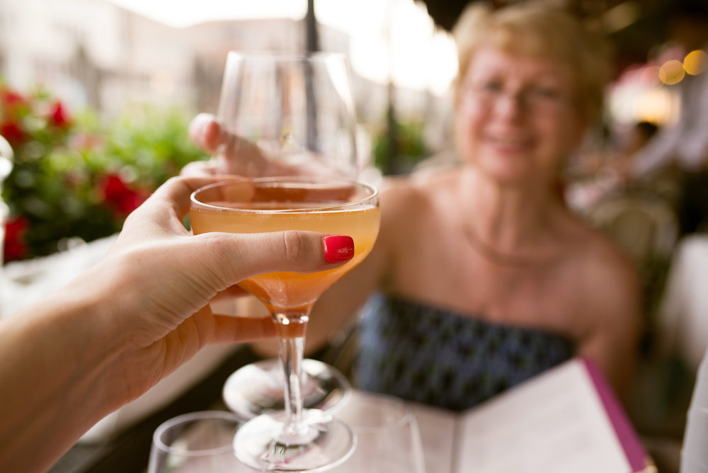 - This is me and my mum in Venice on the cocktails! My mum is a cancer survivor and my real life hero, we are so lucky to have her. We have a guilty pleasure when we go away on trips we always eat dinner early so we can go back to the hotel and veg out in our robes in bed! Being lazy is our treat!