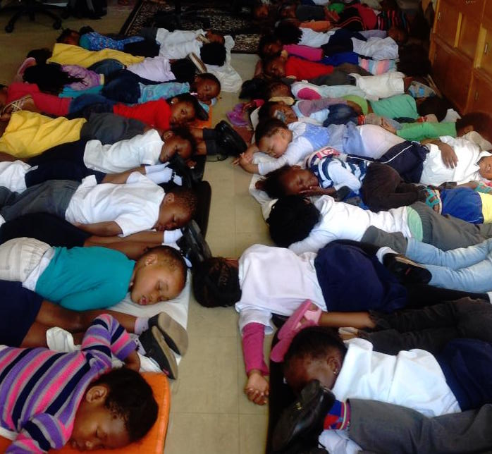 Children having their midday snooze - 2014