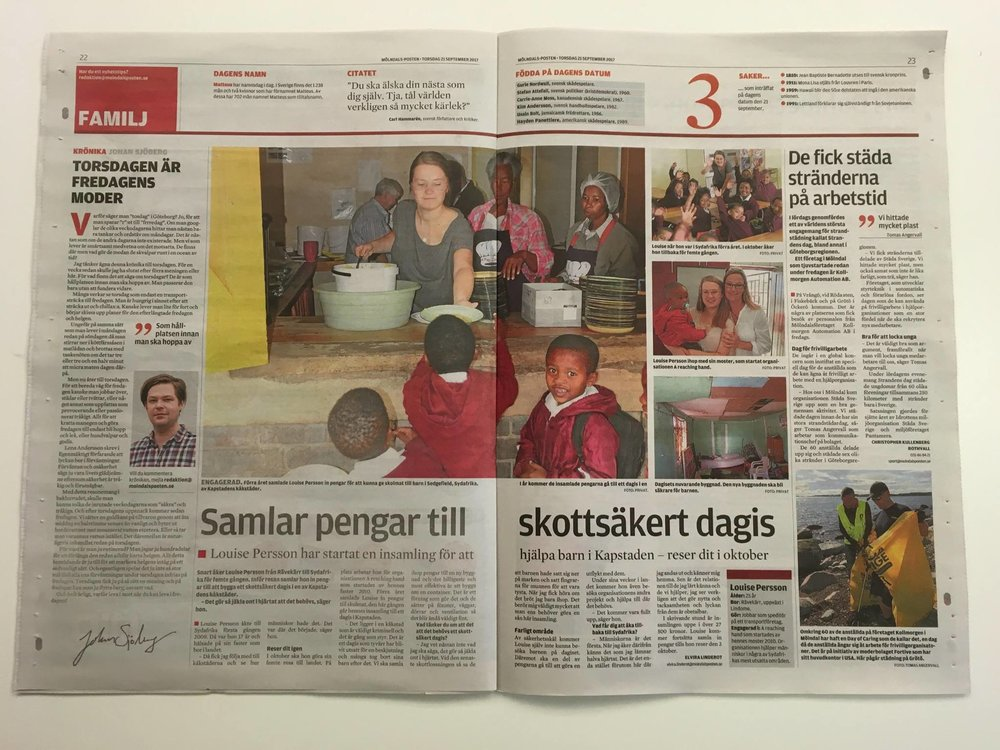 Louise in the Swedish Newspaper.jpg