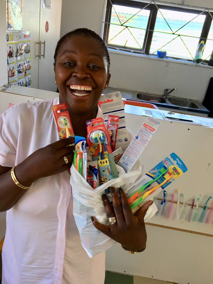 Phumezas Kids receiving Toobrushes and Toothpaste Donations from Sweden Group 2.jpg