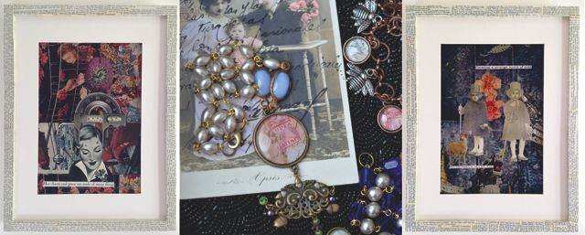 collages & jewellery