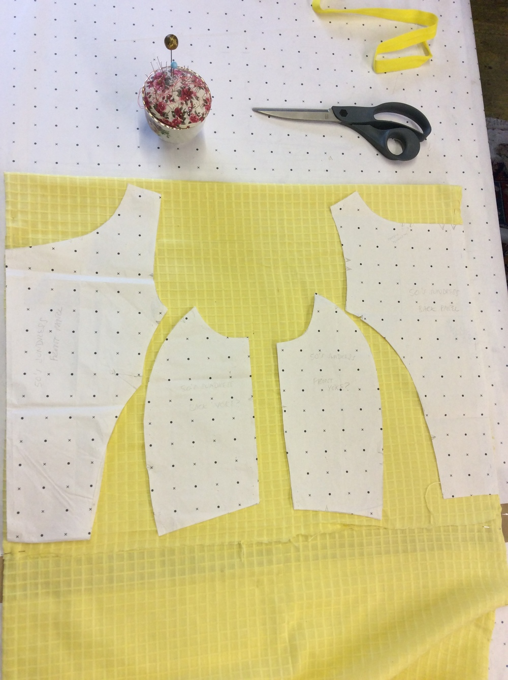 Yellow Cotton Dress at the Studio