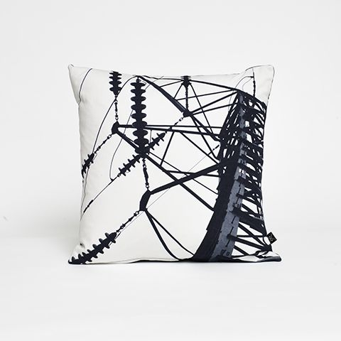 Anthony Hughes Warehouse Home Insulator black white cushion