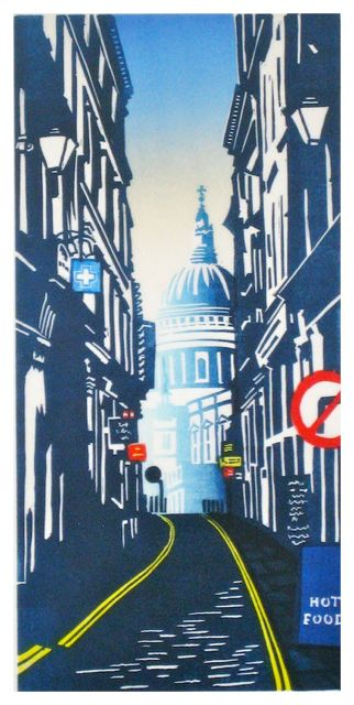 St Pauls from Watling Street by Janet Brooke