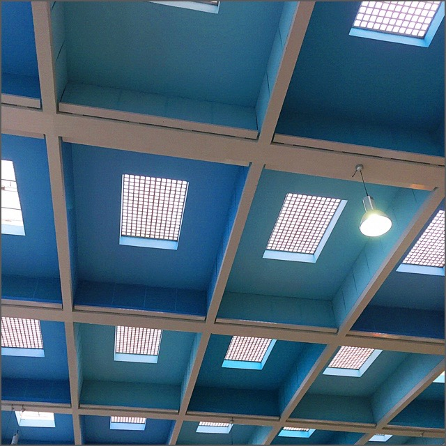 The ceiling of Marseille Airport