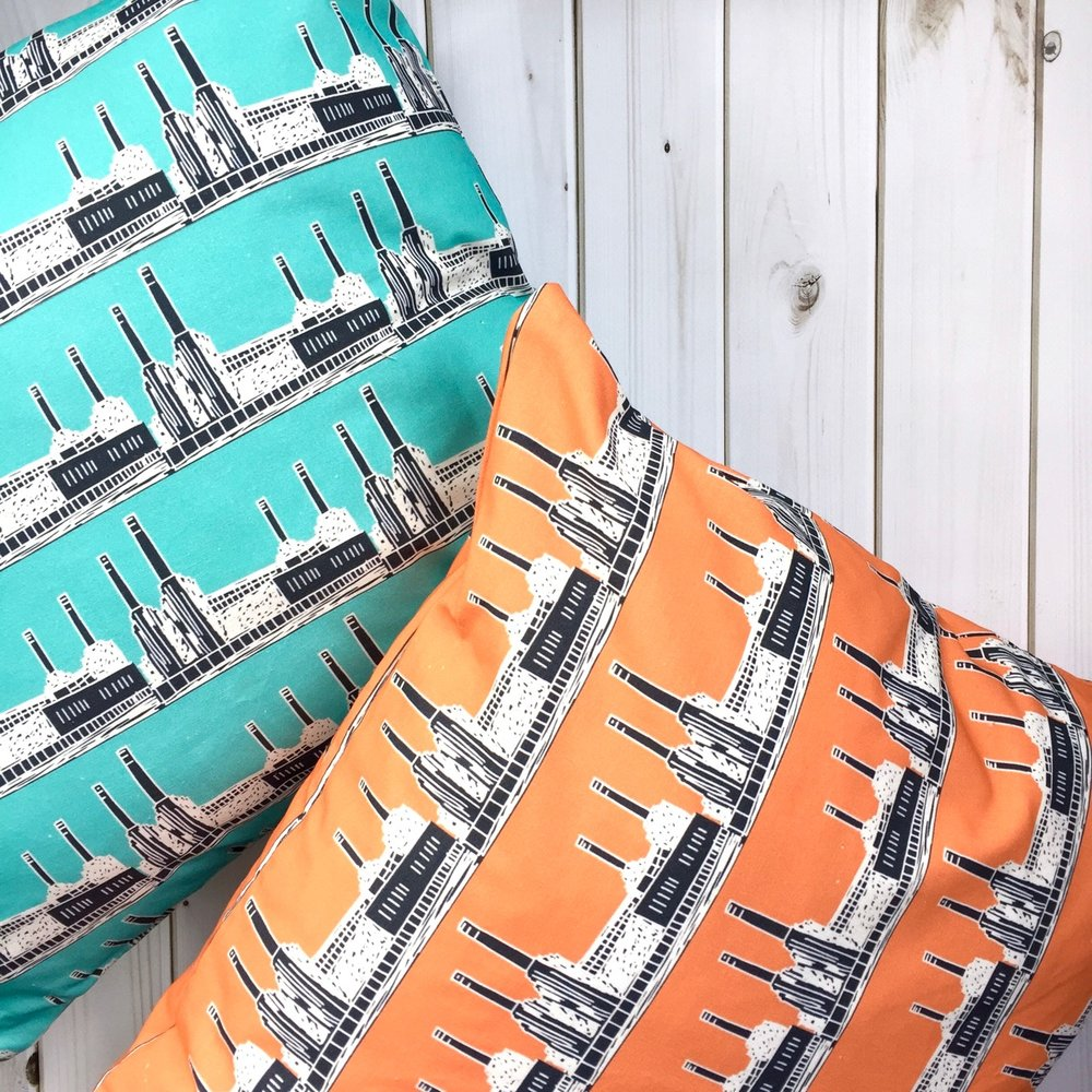 Battersea Power Station Cushions still available from Warehouse Home - now in a square format