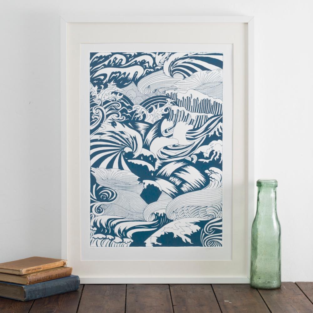 The Sea screen print – Photo by Yeshen Venema