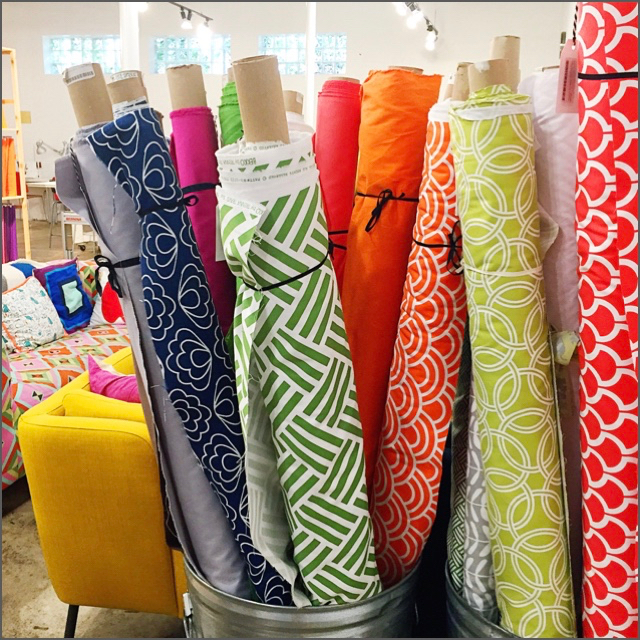 Fabric shopping at  Gather Here  in Cambridge, Massachusetts