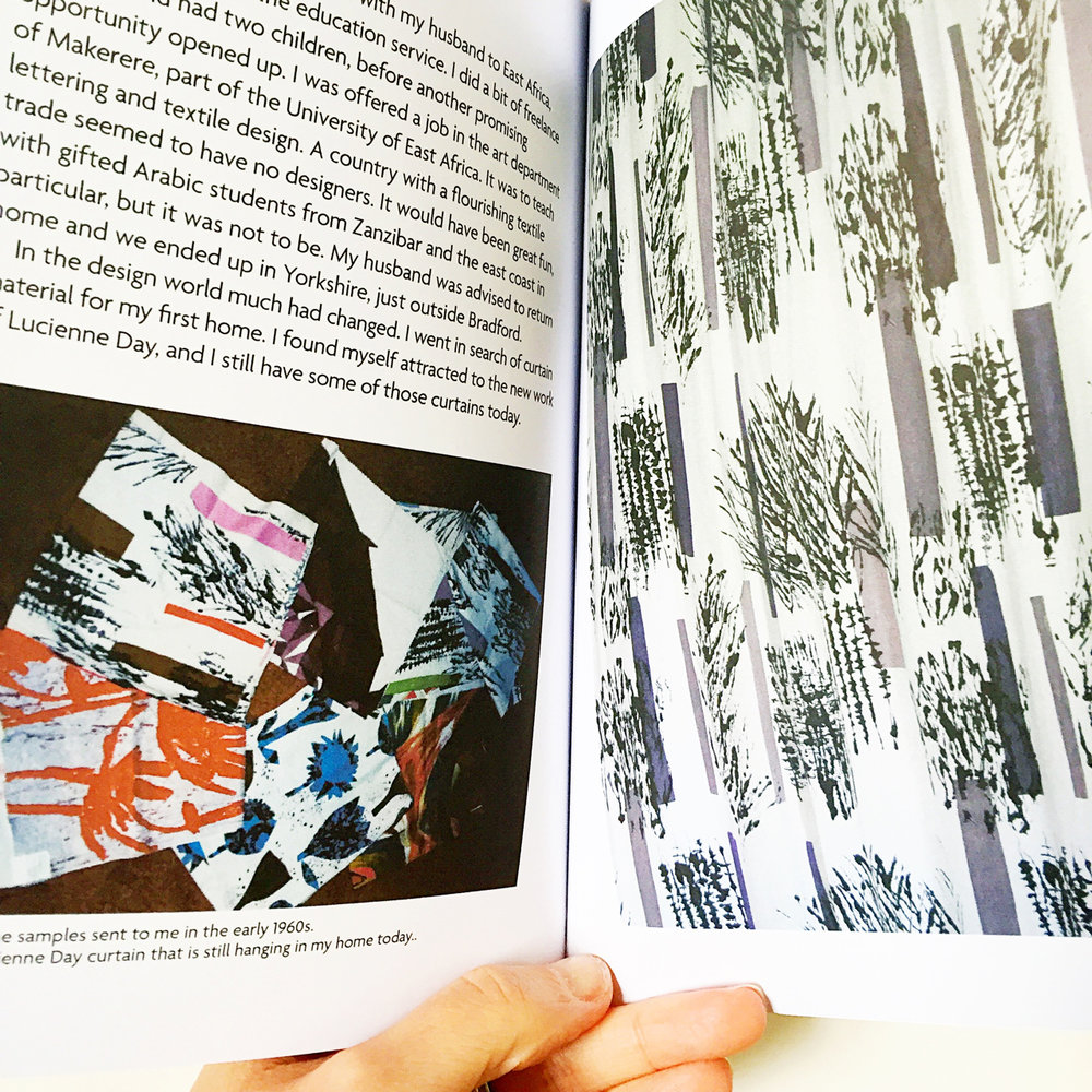 The book contains images of Rosemary's work alongside other designers of the time, including Lucienne Day