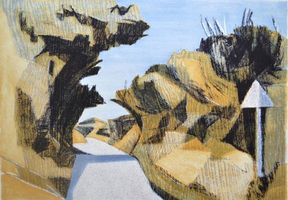 Ludgvan Lane 1 - Lithograph 30 x 42 cm - Simon Burder