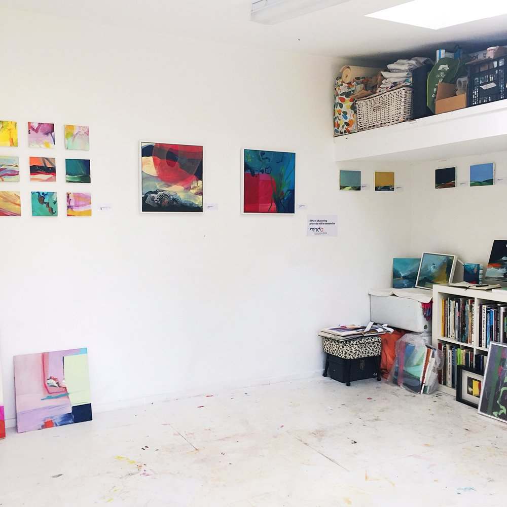 Claire Chandler's gorgeous studio